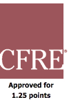 CFRE Approved for 1.25 points